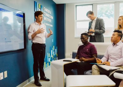 Career and Connection Institute has new collaborative spaces for groups